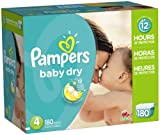 Baby : Pampers Baby Dry Diapers Size 4, 180 Count