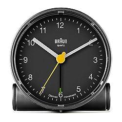 Braun BNC001BKBK Classic Analog Quartz Alarm Clock
