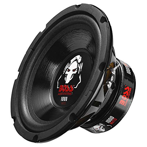 BOSS Audio Systems P80DVC 1000 Watt, 8 Inch, Dual 4 Ohm Voice Coil Car Subwoofer