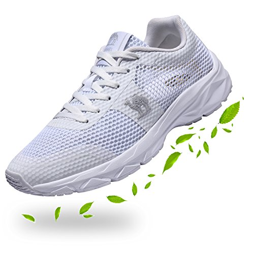 Camel Womens Trainers Lightweight Mesh Running Shoes Breathable Gym Athletic Sneakers White