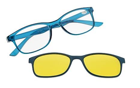 Eyekepper Leyendo mujeres de vidrios con polarizado Anti reflejos azul lente fotocromática polarizada sol Clip un
