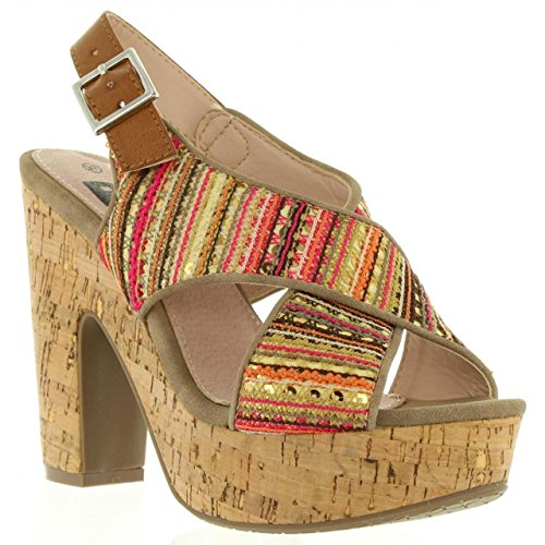 Sandalias de Mujer REFRESH 63591 TEXTIL TAUPE