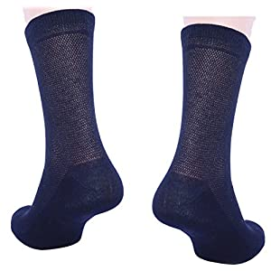 5 Pack Men's Ultra Thin Breathable Cotton Dress Socks black color 10-13