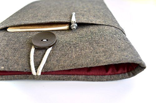 Laptop-Sleeve-for-MacBook-Pro-MacBook-Air-Surface-Chromebook-Custom-Size-Handmade-Protective-Gadget-Case-Brown-Linen