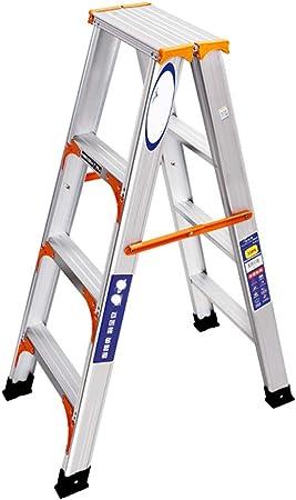 Escalera de Aluminio de Doble Refuerzo Escaleras de Doblez para el hogar Escalera de 3/4 escalones (Tamaño : 4 Steps Ladder): Amazon.es: Hogar