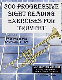 Amazon com: 300 Progressive Sight Reading Exercises for Trumpet