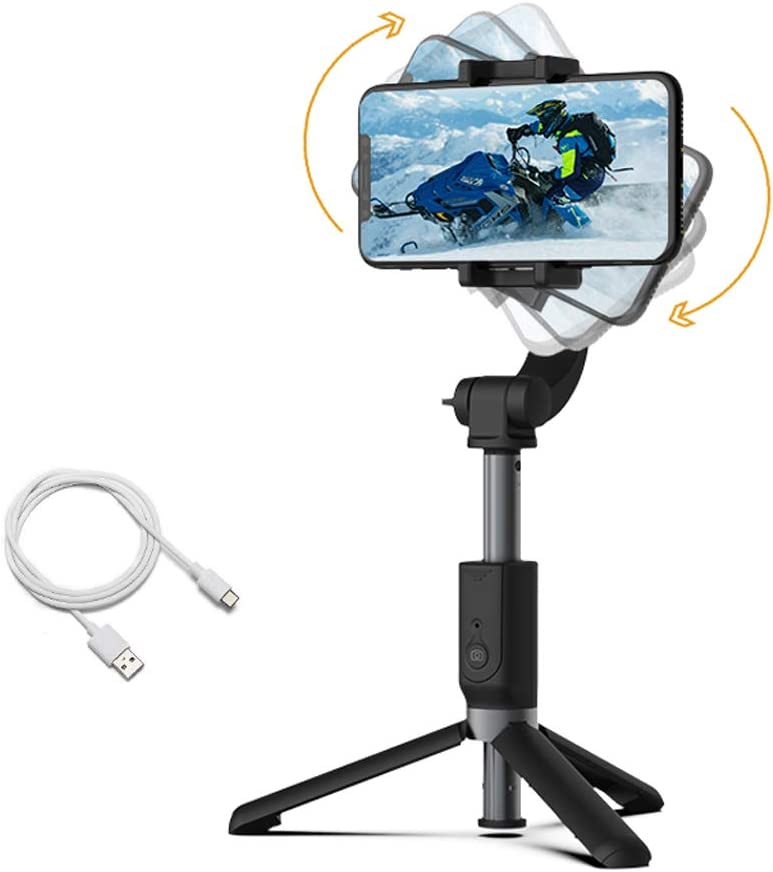 Handheld Gimbal Stabilizer Outdoor Live Video Shooting Video Vlog Shooting Tool Retractable Selfie Stick With Tripod And Data Cable Floor Shooting Automatic Balance