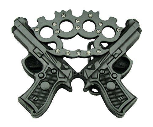 BRASS KNUCKLES & GUNS BELT BUCKLE HANDGUN PISTOL (Buckle Gun Belt)
