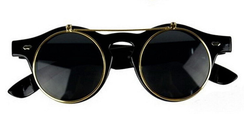 Cyber ronde goggles de soleil des Lunettes de Steampunk Antique Copper (Goggle Nr1) DSKuof