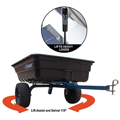 Oxcart Lift-Assist and Swivel Dump Cart, 12 cu.