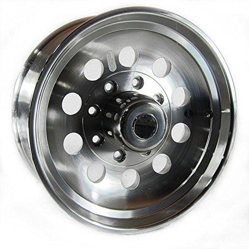 17.5x6.75 Aluminum Modular Trailer Wheel 8 x 6.50 Center Cap & 9/16 in Lug Nuts -