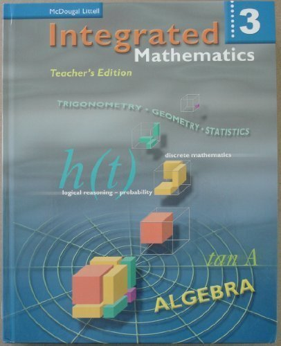McDougal Littell Integrated Math: Teacher Edition Book 3 2002