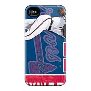 MarcClements Case Cover For SamSung Galaxy Note 2 Protector Hard Phone Cover Custom Realistic Atlanta Braves Series [Lti6292LBnX]
