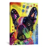 iCanvasART French Bulldog by Dean Russo Canvas Art Print, 40 by 26-Inch