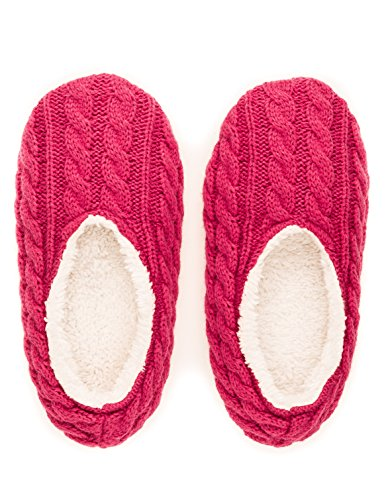 Slippers Cable Womens Ballet Pink Knit Noble Mount Indoor PqTwxSnOZ