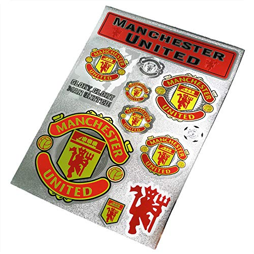 ZQfans Football Club Soccer Team Logo Stickers Car/Glass/Laptop/Wall Sticker Decal (Manchester United, 7.811.8inch)