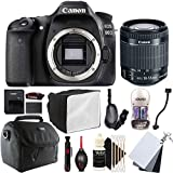 Canon EOS 80D 24.2MP Digital SLR Camera with 18-55mm EF-IS STM Lens and Accessory Bundle