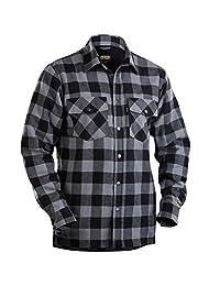 Blaklader 322511319799S Flannel Shirt, Size S, Dark Grey/Black