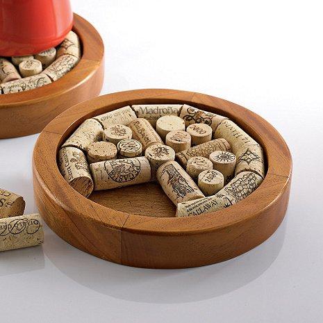 Round Trivet Kit for Wine Lovers by Denizli