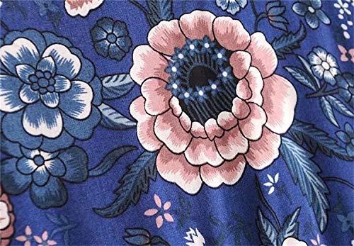Grandi Con Abito Blue Gperw Swing Ampio Dimensioni Scollo Cerimonia Profondo Corta A Di Da Manica V Dark WTWOp4nf