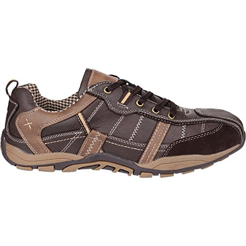 Fleet And Foster Mens Portsmouth Classic Lace Up Casual Summer Shoes Brown m6NNF
