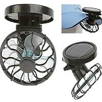 Flytaker Portable Mini Solar Clip Fan Household Hat Cap Cooling Fans Energy Saving Pack of 2