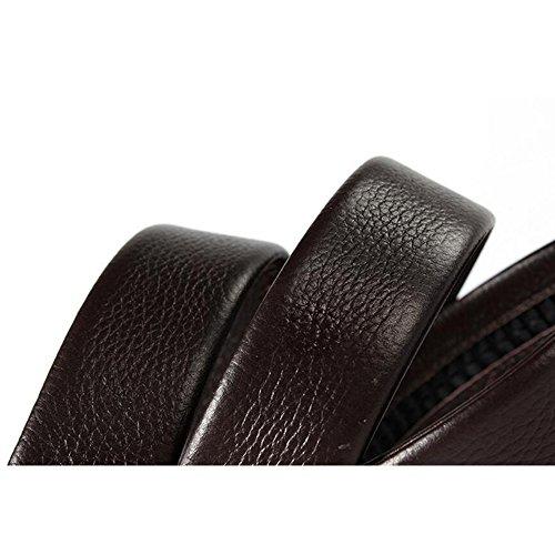 82d673b816 Barato JUNBOSI Cinturones premium para hombres - Cinturones sociales  maduros para hombres - 14 Cinturones automáticos de hebilla a cuadros  ajustables, ...