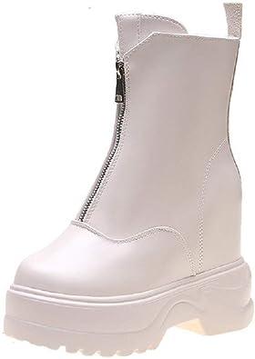 Luckycat Rain Boots, Botas para Mujer Zapatillas Botines Cavalier Mujer Talón Tacón Ancho Alto 6 CM Bota Agua Mujer Chelsea Jardín Trabajo Lluvia Tobillo Botas Festival Antideslizante Boots: Amazon.es: Zapatos y complementos
