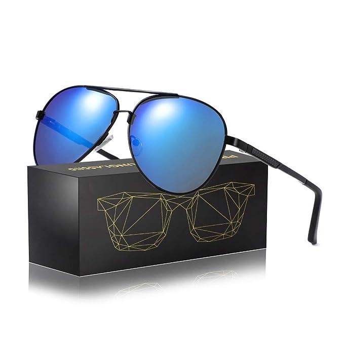 571b1a66871c7 Aviator Sunglasses for Men Women-Polarized UV400 Mirrored Fashion Unisex  Driving Sun Glasses (black