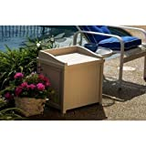 Suncast 22 Gallon Resin Outdoor Deck Box with Seat