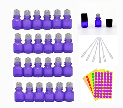 1-ml-1-4-dram-purple-glass-roll-on-bottles-vials-for-essential-oil-come-with-blank-lables-plastic-dr