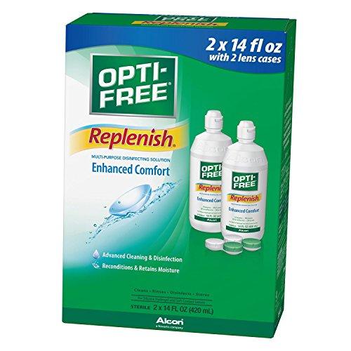 Opti-Free RepleniSH Solution (14 fl. oz., 2 pk.) (pack of (Opti Free Replenish)