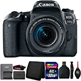 Canon EOS 77D DSLR Camera with 18-55mm Lens and Accessory Bundle