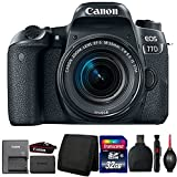 Canon EOS 77D DSLR Camera with 18-55mm Lens and Accessory Bundle For Sale