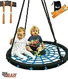 Trailblaze Giant Web Tree Swing + Hanging Straps Kit - Extra Strong Net Kids Swing Holds 600 lb - 40