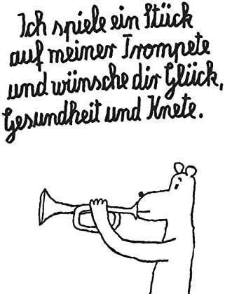 Postkarte A6 30852 Trompete Von Inkognito Kunstler Frantz Wittkamp Text Amazon De Burobedarf Schreibwaren
