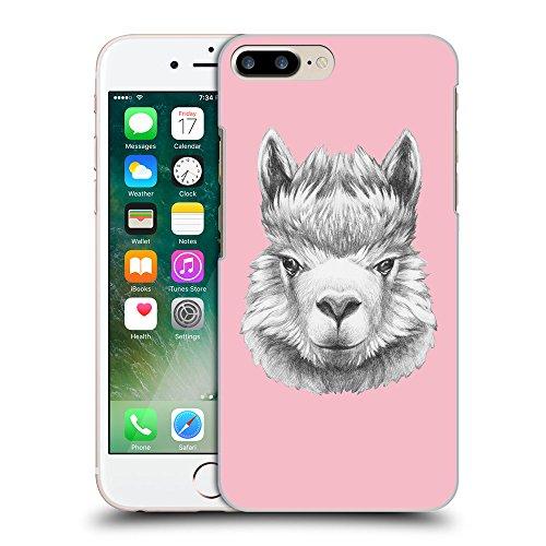 GoGoMobile Coque de Protection TPU Silicone Case pour // Q05380630 Portrait lama Rose // Apple iPhone 7 PLUS
