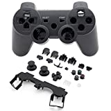 Super Custom Replacement Wireless Game Controller Shell Case Cover Kit for PlayStation 3 - Includes Button Set, Black