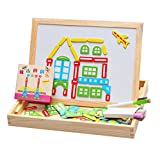 Early Learning Learning Wooden Magnetic City Pattern Blocks and Broads