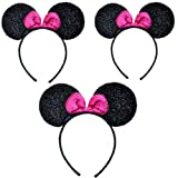 Minnie Mouse Ears Sparkle with Pink Bow (Lot of 12) by CLGIFT