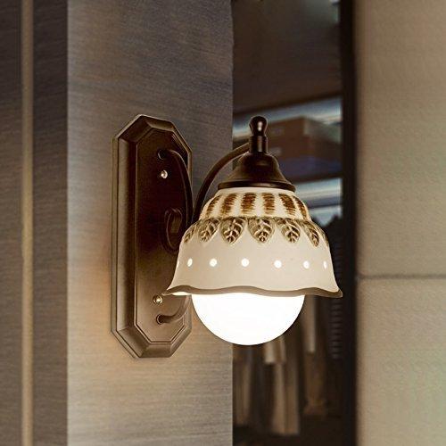 Modeen Modern Metal Ceramic Wall Lights Black Creative Wall Lamp Wall Light Reading Light E27 Bedside Lamp For Bedroom Living Room Barn Villa Garage Lighting Fixtures by Modeen