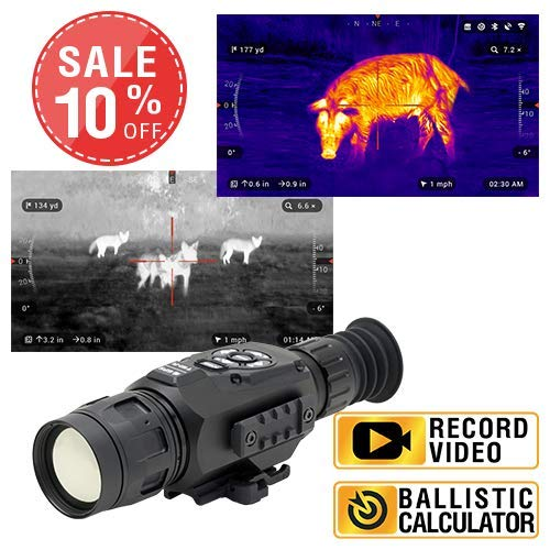 theOpticGuru ATN Thor-HD, Thermal Rifle Scope with Full HD Video rec, WiFi, GPS, Smooth Zoom and Smartphone Controlling Thru iOS or Android Apps (384x288, 9-36x)