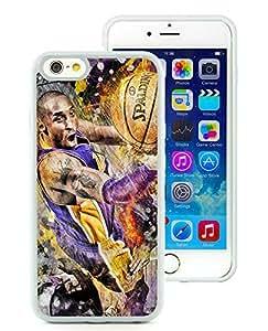 New Custom Design Cover Case For iPhone 6 4.7 Inch Kobe Bryant 8 White Phone Case