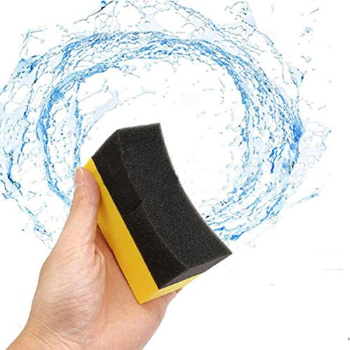 5pcs Car Cox Professional Tyre Tire Dressing Applicator Curved Foam Sponge Pad Drop (Car Foam Tire)