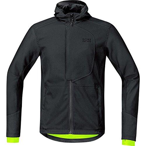 GORE BIKE WEAR Men's Soft Shell Urban Cycling Jacket, GORE WINDSTOPPER, ELEMENT URBAN WS SO, Jacket, Size M, Black, - Outlet Triathlon Bike