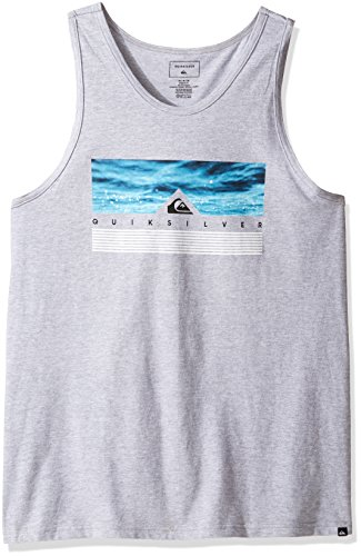 Quiksilver Men's Jungle Box Tank T-Shirt, Athletic Heathe...