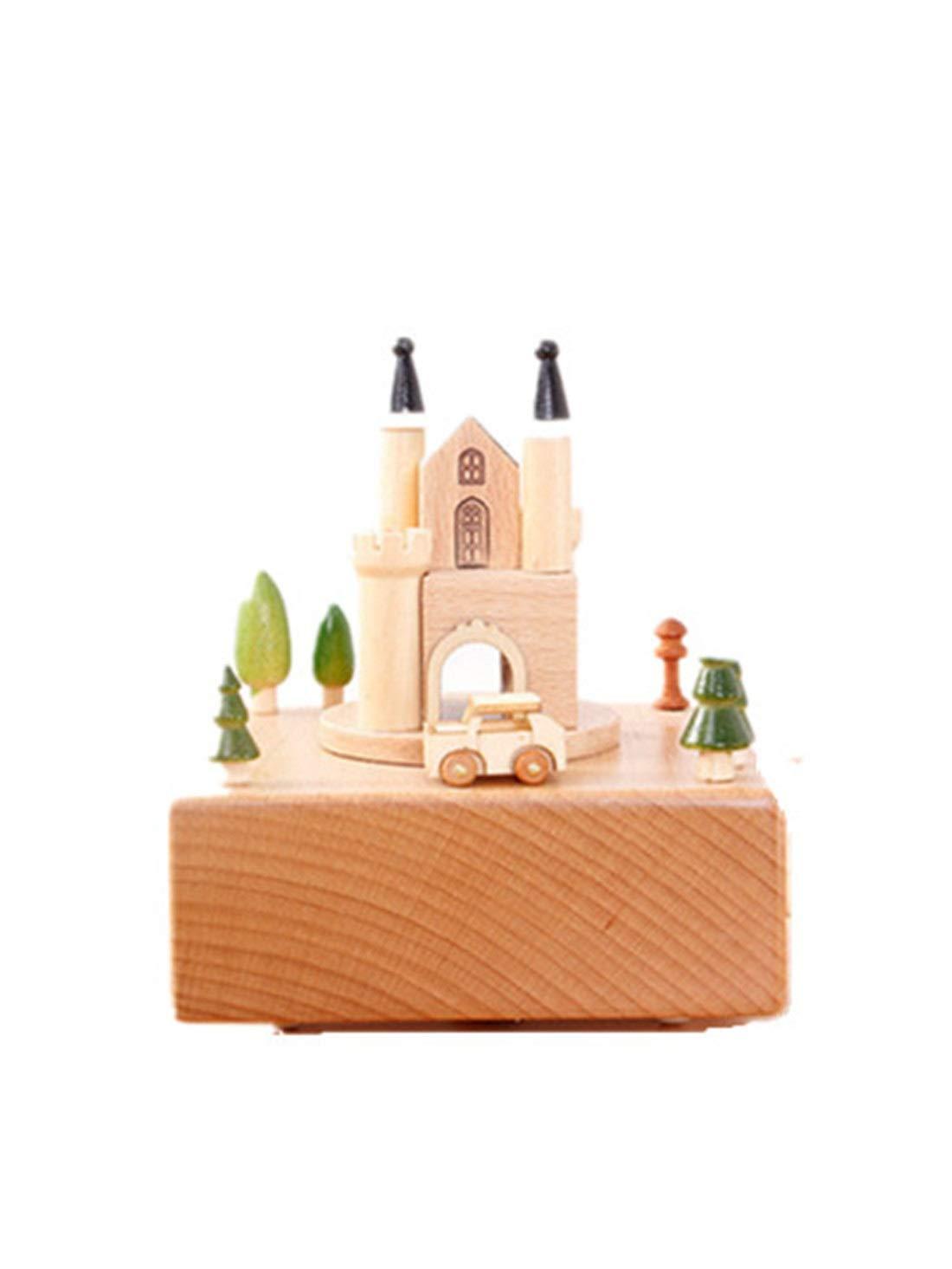 Meipa Time Caja de música giratoria Original de artesanía de ...