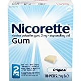 Nicorette Stop Smoking Aid 2 mg Gum Original 110 Each (Pack of 3)