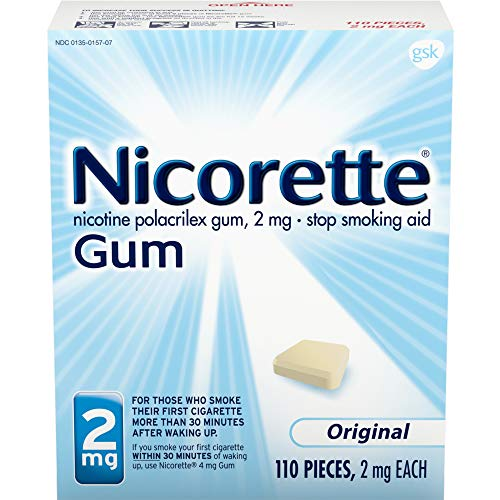 - Nicorette Gum, 110 2mg Pieces, Original Flavor (1 Pack)