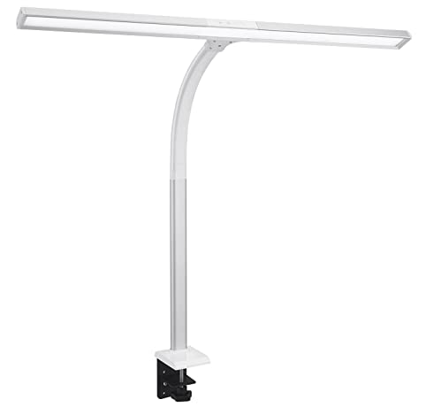 Phive LED Task Lamp, 15 Watt Super Bright Desk Lamp With Clamp, Dimmable  Gooseneck